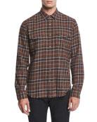 Plaid Flannel Western Shirt