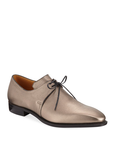 Arca Metallic Leather Derby Shoe