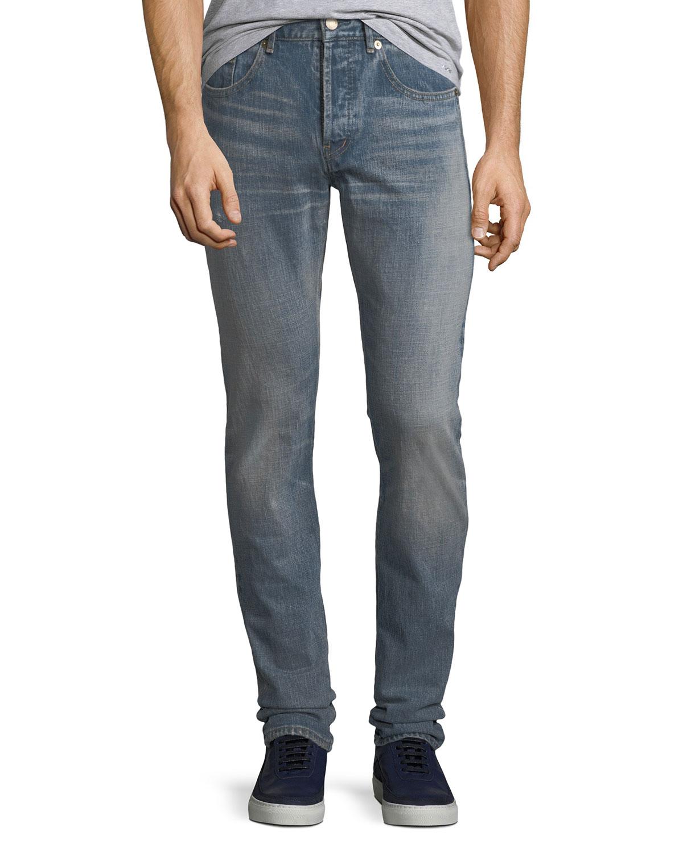 Slim-Fit Light-Wash Jeans
