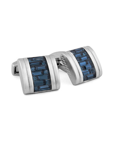 Swarovski® Crystal Interlock Cuff Links