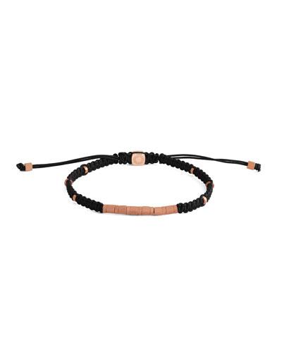 Men's Braided Rose Gold-Plated Bracelet
