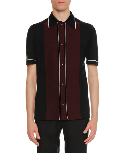 Two-Tone Wool Bowling Shirt