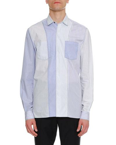 Striped Pocket Sport Shirt