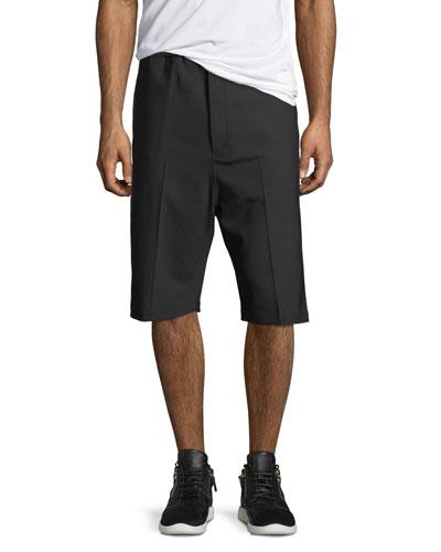 Side-Strike Drop-Crotch Shorts