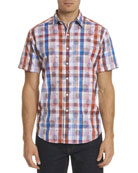 Desmodium Plaid Short-Sleeve Sport Shirt