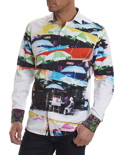 Limited Edition Travail Umbrella-Print Sport Shirt
