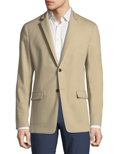 Simon Compact Stretch-Cotton Blazer