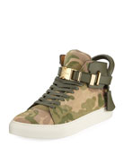 Men's Camo-Print High-Top Sneaker