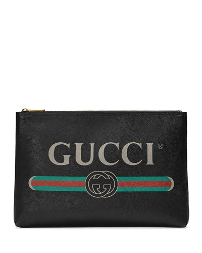 a7f1be48b327 Quick Look. Gucci · Men s Large Logo Pouch Bag. Available in Black