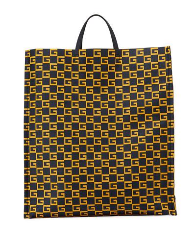 Men's GG Supreme Cube-Print Tote Bag