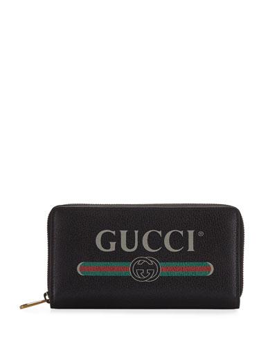b4cf786cd306 Quick Look. Gucci · Logo Zip-Around Wallet