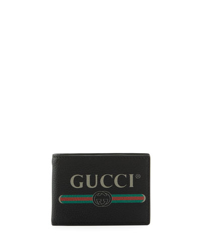 815b83a087bb5 Quick Look. Gucci · Bi-Fold Leather Logo Wallet