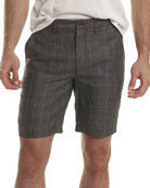 Storm Plaid Dress Shorts