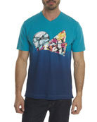 Into the Wind Ombré-Graphic T-Shirt