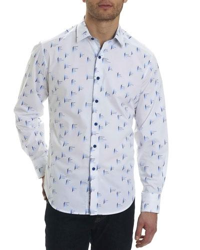 Reid Geometric-Print Sport Shirt