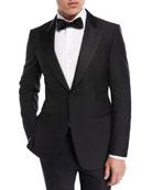 Ermenegildo Zegna Textured-Lapel Wool-Silk Tuxedo