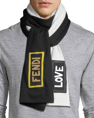 Love Fendi Fleece Wool Scarf