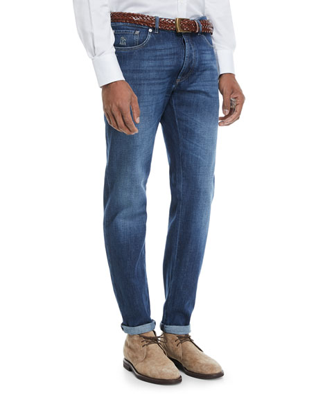 Brunello Cucinelli Basic-Fit Straight-Leg Denim Jeans