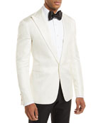 Tonal Houndstooth One-Button Dinner Jacket