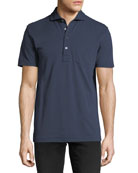 Jersey Pocket Polo Shirt, Navy