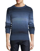 Striped Linen-Blend Sweater