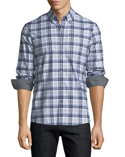 Jase Check Slim-Fit Sport Shirt