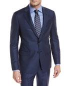 Tonal-Dot Wool Two-Piece Suit