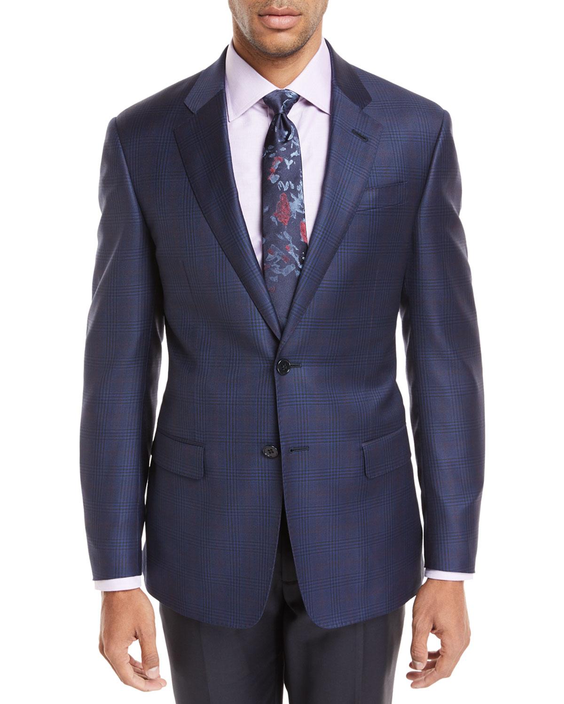 Windowpane Plaid Wool Jacket