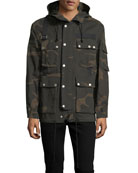 Camouflage Hooded Utility Jacket