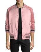 Alex Satin Varsity Jacket