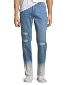 Ovadia & Sons Slim-Leg Checker Jeans