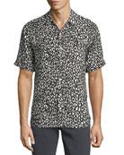 Camp Leopard-Print Short-Sleeve Shirt