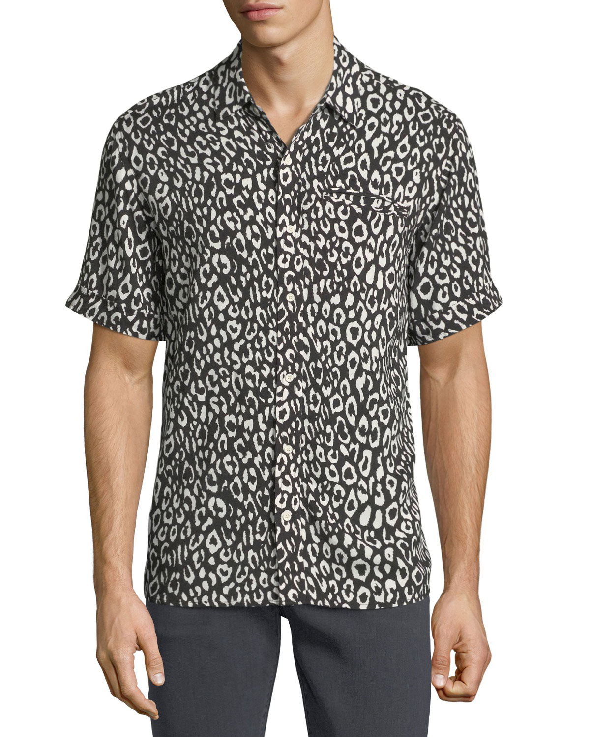 Camp Leopard-Print Short-Sleeve Shirt