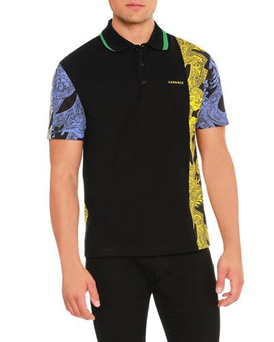 Barrocco Istante Printed Polo Shirt