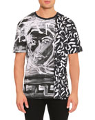 Painted Medusa Studded-Trim T-Shirt