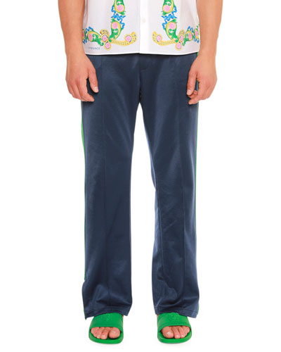 Side Slit Medusa-Embroidered Track Pants