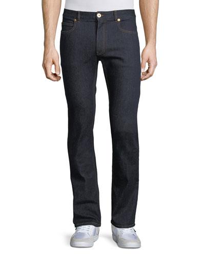 Taylor Modern Slim Denim Jeans, Dark Blue