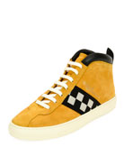 Vita Retro High-Top Sneaker, Yellow