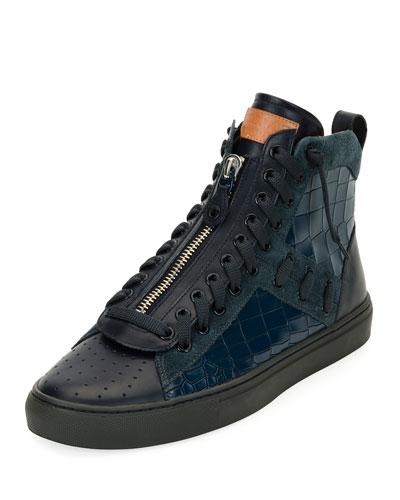 Hekem Patchwork High-Top Sneaker