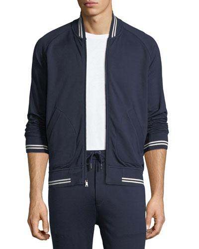 Stripe-Trim Track Jacket