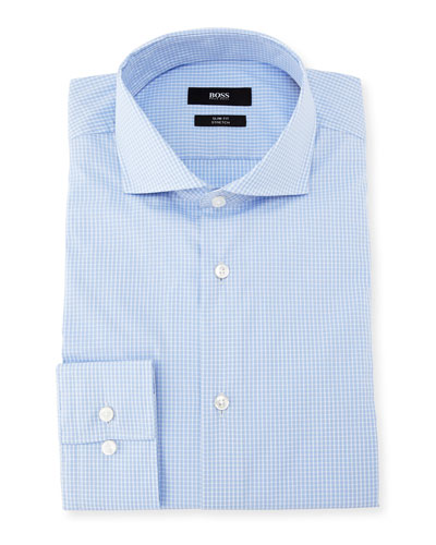Jason Micro-Check Cotton Dress Shirt