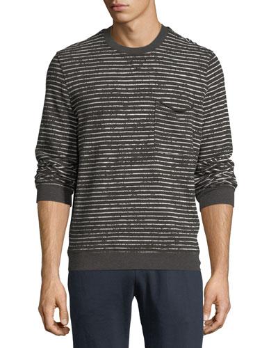 Broken-Stripe Sweatshirt