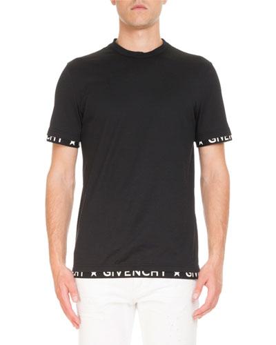 Logo-Trim Cuban T-Shirt