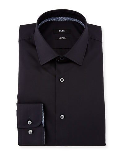 Jesse Contrast-Trim Solid Dress Shirt