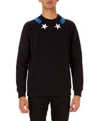 Star-Collar Cuban-Fit Sweatshirt