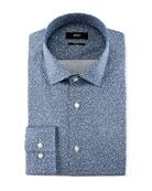 Jenno Floral-Print Slim-Fit Dress Shirt