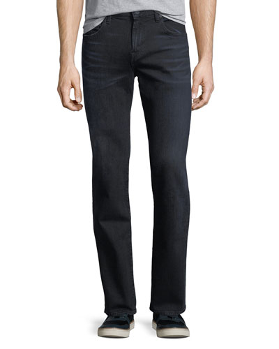 Luxe Performance: Straight-Leg Shoreline Jeans, Indigo