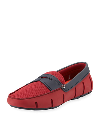 Rubber Penny Loafer, Red
