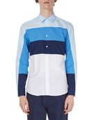 Striped Cotton Sport Shirt