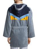 Monster Hooded Robe, Gray/Blue